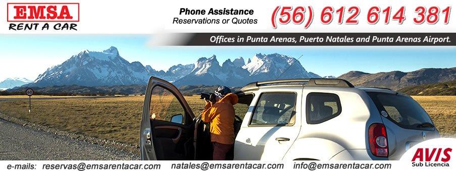 car rental punta arenas  EMSA RENT A CAR with offices in Punta Arenas, Puerto Natales, Punta ...